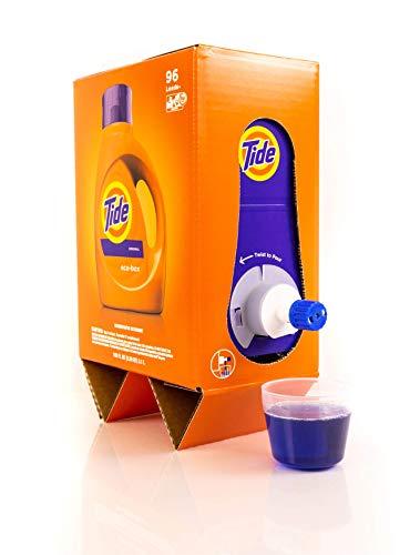 Tide Liquid Laundry Detergent Eco-Box, Original Scent, 105 fl oz, 96 Loads