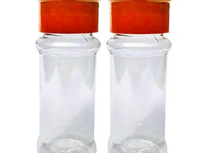 2pcs Plastic Pepper Bottles,100ml Spice Container,Spices Bottle Pepper Shaker,Seasonning Storage Container Bottle,Translucent Plastic Toothpick Sugar Cocoa Powder Coarse Spices Serving HolderRed