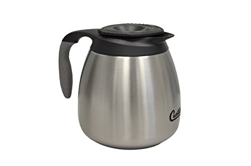 Commercial Airpot Pourpot Beverage Dispenser - Wilbur Curtis Thermal Dispenser Seamless Pourpot, 64 Oz, Ss Exterior/Liner, Brew-Thru Lid - CLXP6401S100 Each