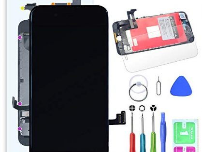 SZRSTH Compatible with iPhone 7 Plus Screen Replacement Black 5.5 Inch LCD Display with 3D Touch Screen Digitizer Frame Full Assembly Include Full Free Repair Tools Kit+Instruction+Screen Protector