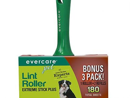 Evercare Pet Extreme Stick Plus Lint Roller Combo Pack, 180 Sheets 617132