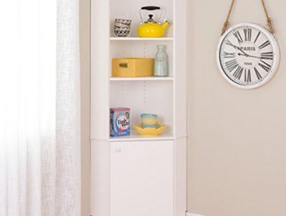 Prepac WSCC-0604-1 Elite Home Corner Storage Cabinet, Tall 1-Door, White