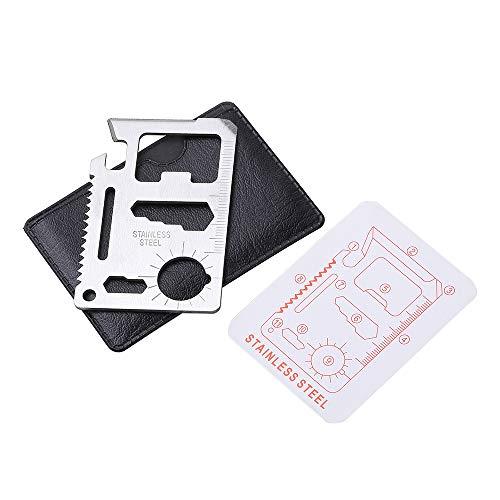v cool livat 11-Tools-in-1 / Multipurpose Silver Beer Bottle Opener/Portable Wallet Pocket Size/Gifts for Men 1-Pack