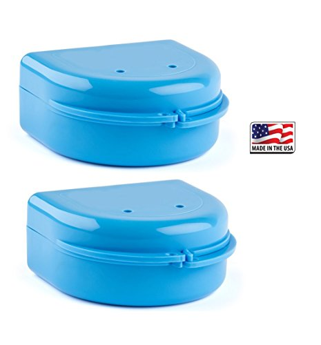 2 Pack- Snap Lock Retainer Case; Blue