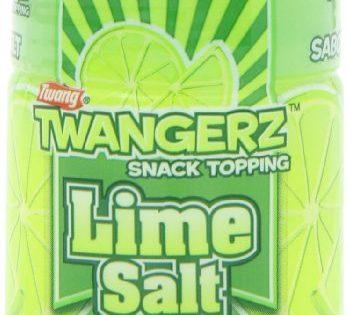 Twangerz Snack Topping, Lime Salt, 1.15-Ounce Shaker Pack of 10