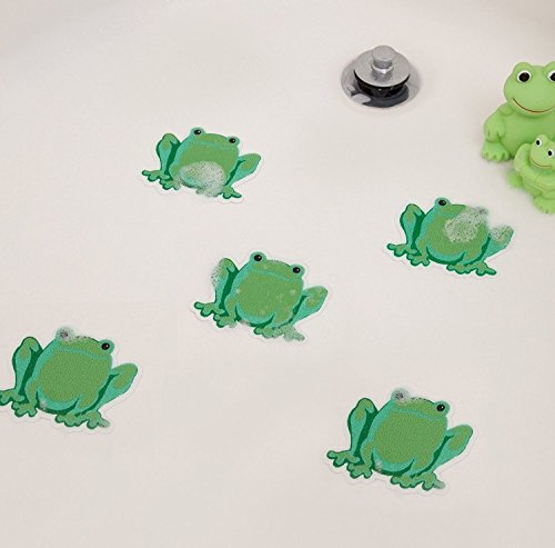 Safety Decals Treads Non Slip Frogs Applique Anti-Skid - Bathtub Shower Stickers
