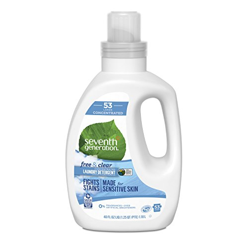 Seventh Generation Concentrated Laundry Detergent, Free & Clear unscented, 40 Fl Oz 53 Loads
