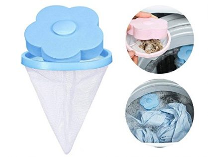 KOBWA Reusable Washing Machine Hair Removal Laundry Ball Floating Washing Machine Lint Mesh Bag Hair Catcher Filter Net Pouch, 1 Pcs