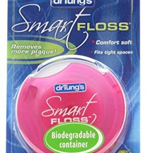 Dr. Tung's Smart Floss, 30 yds, Natural Cardamom Flavor 1 ea Colors May Vary Pack of 6