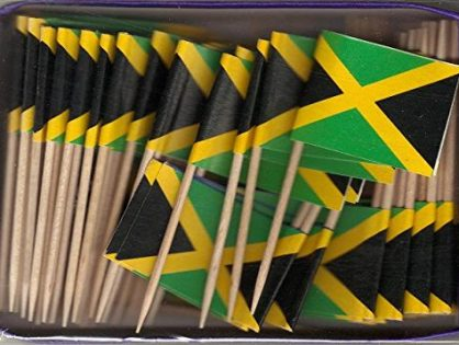 Box of 100 Jamaica Jamaican Toothpick Flags Dinner Flags Food Flags Flag Pick WindStrong®