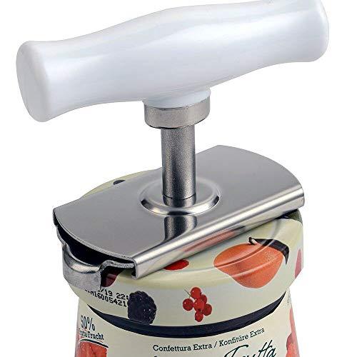 Jar Opener, GIGRIN Stainless Steel Lid Opener Adjustable Professional Jar Bottle Opener with Good Grip, for weak hands, Fit for 1-4 inches Bottle Can