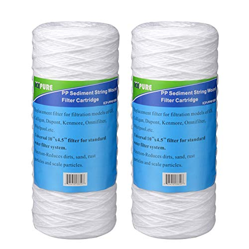 Icepure Heavy Duty Polypropylene Sediment Filter Cartridge Compatible with 3WH-STDSW-F02 for Whole House System Pack of 2