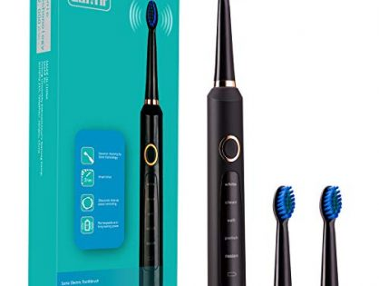 Electric Clean as Dentist Power Rechargeable Battery Sonic Toothbrush Black