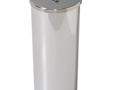 Zenna Home 7666ST, Toilet Paper Canister, Polished Stainless Steel