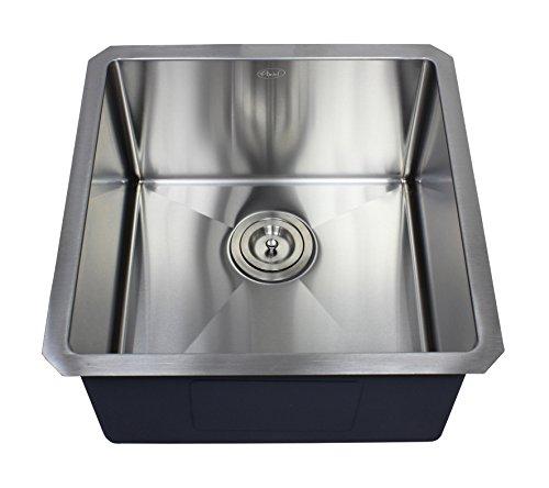 """Ariel 18"""" x 18"""" Single Bowl Undermount Kitchen Sink"""