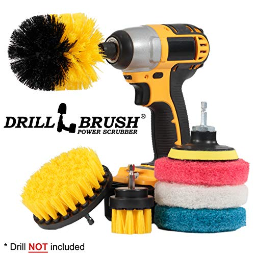 Grout Brush Drill Attachment - Drillbrush Power Scrubber Brush Set - Drill Brush Attachment - Bathroom Cleaner Scrub Brush - Grout Cleaner - Drill Scrubber Attachment - Toilet Brush Cleaning Supplies