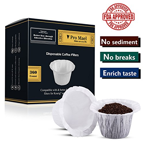 Disposable Coffee Filters 360 Counts Coffee Filter Paper for Keurig Brewers Single Serve 1.0 and 2.0 Use with All Brands K Cup Filter 1