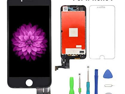 """Screen Replacement for iPhone 7 Black LCD Display & Touch Screen Digitizer Replacement Full Assembly Set with 3D Touch and Free Repair Tool Compatible with Model A1660, A1778, A1779(4.7"""" )"""