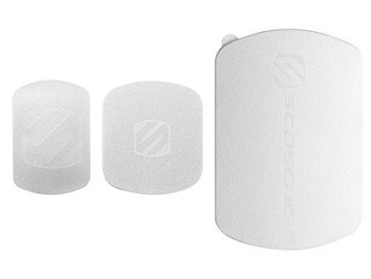 Silver MAGRKSRI - Includes 3 Plates and 2 Cleaning Swabs - MagicPlate Color Matching Plates for iPhone/iPad and Other Smart Devices - SCOSCHE MagicMount Magnetic Mount Replacement Plate Kit