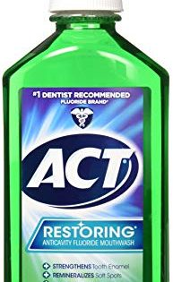 ACT Restoring Anticavity Fluoride Mouthwash, Mint Burst, 33.8 Fl Oz
