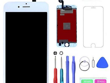 MWBDD Compatible with iPhone 6s Screen Replacement White 4.7 Inch LCD Display with 3D Touch Screen Digitizer Frame Full Assembly Include Full Free Repair Tools Kit+Instruction+Screen Protector