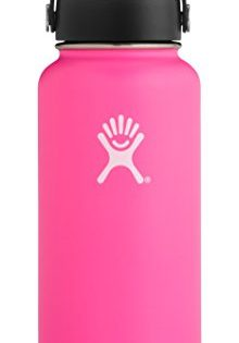 Hydro Flask 32 oz Double Wall Vacuum Insulated Stainless Steel Leak Proof Sports Water Bottle, Wide Mouth with BPA Free Flex Cap, Flamingo
