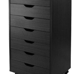 Winsome 20792-WW Halifax Storage/Organization 7 drawer Black