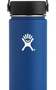 Hydro Flask 18 oz Double Wall Vacuum Insulated Stainless Steel Leak Proof Sports Water Bottle, Wide Mouth with BPA Free Flex Cap, Cobalt