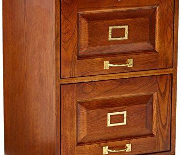 Palmetto 2-Drawer Oak File Cabinet Warm Honey