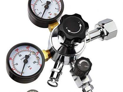 Keg Regulator, Kegerator Regulator, Beer Regulator, Co2 Tank Regulator, Beer Keg Regulator, Co2 Regulator Gauge with CGA-320 Inlet, 0-60 PSI Working Pressure, 0-3000 PSI Tank Pressure By MRbrew