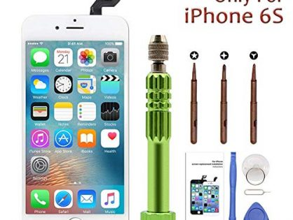 """iPhone 6s Screen Replacement 4.7"""" White,LCD Display & Touch Screen Digitizer with 3D Touch Full Assembly Set for iPhone 6s 4.7 inch with Repair Tool kit"""
