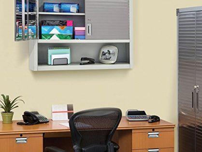 Seville Classics UltraHD Wall Cabinet with Open Shelf Granite