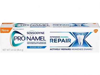 Sensodyne Pronamel Intensive Enamel Repair Toothpaste for Enamel Strengthening, Clean Mint, 3.4 Ounces
