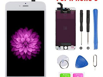 for iPhone 6 Screen Replacement, LCD Display & Touch Screen Digitizer Replacement Full Assembly for iPhone 6 4.7 inch with Free Tools Kit White