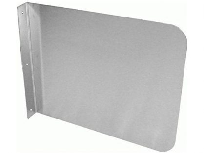 "Sink Basin Safe Guard/Splatter Guard/Cross Contamination Sink Guard - For Commercial Usage - DuraSteel Stainless Steel Side Splash Guard - 15"" x 12"" Wall Mount - Hand Sinks and Compartment Prep Sinks"