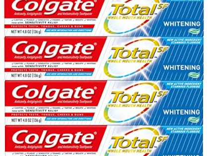 4 pack - Colgate Total Whitening Gel Toothpaste, 4.8 ounce