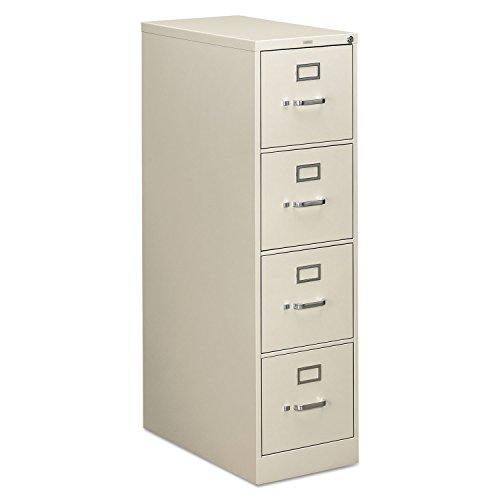 HON 314PQ 310 Series 26-1/2-Inch 4-Drawer Full-Suspension Letter File, Light Gray