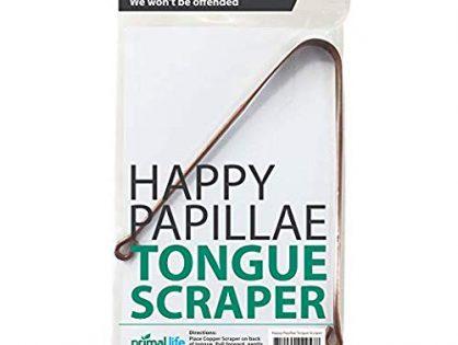 Happy Papillae Tongue Scraper- copper, natural tongue cleaner