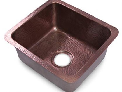 Monarch Abode 17090 Pure Copper Hand Hammered Highball Bar Prep/Kitchen Sink 17 inches