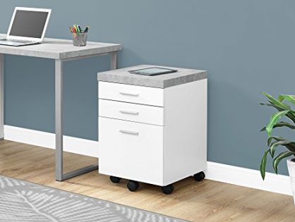 """Monarch Specialties I 7051 Filing Cabinet White 18.25"""" L x 17.75"""" D x 25.25"""" H"""