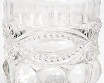 Toothpick Holder - Mosser USA - Eyewinker - French Opalescent