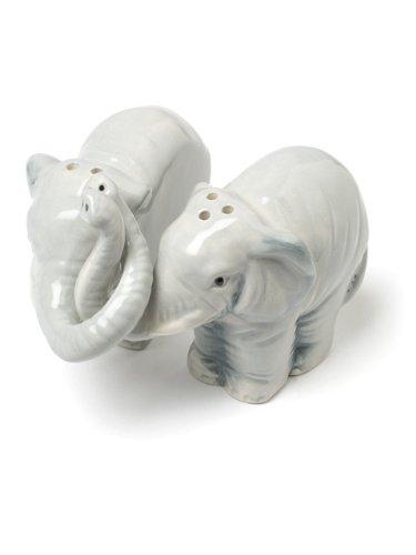 Abbott Collection Hugging Elephants Ceramic Salt & Pepper Shaker Set