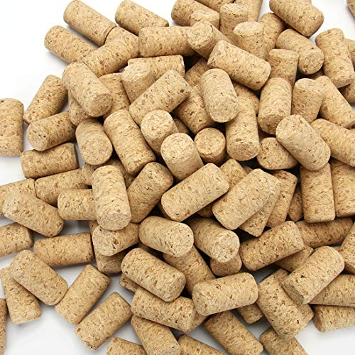 """15/16"""" x 1 3/4"""" - Tosnail 150 Pack #9 Blank Wine Corks Straight Corks Wine Stoppers"""