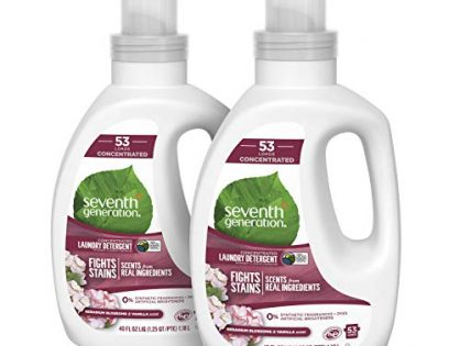 Seventh Generation Concentrated Laundry Detergent, Geranium Blossom & Vanilla, 40 oz, 2 Pack 106 Loads