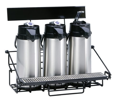 Compact Design with Integral Drip Tray - WR3B0000 Pack of 3 - Wilbur Curtis  3 Position Wire Airpot Rack