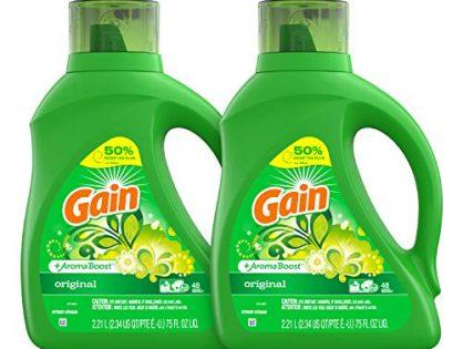 Gain Liquid Laundry Detergent, Original Scent, 2 Count, 75 fl oz Each
