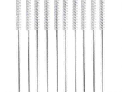 desin Long Straw Brush, Nylon Pipe Tube Cleaner 10-ihch X 2/5-inch set of 10