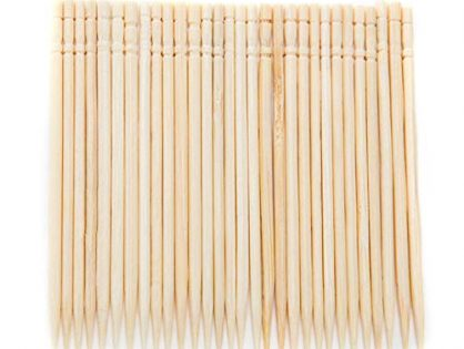 H-TEK Wood Toothpicks 30 Pieces Clean Toothpicks Round Pure Toothpicks for Fruit Meat Barbecue Cleaning Art Craft