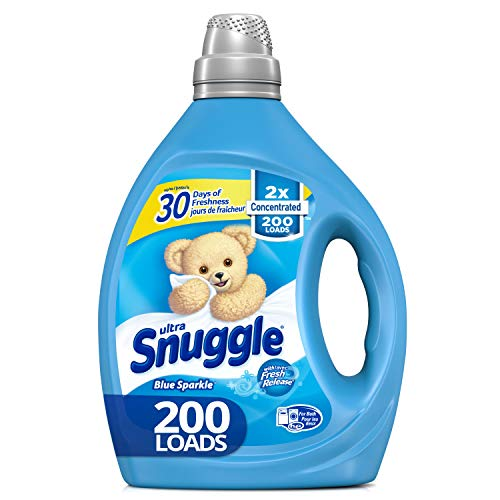 Snuggle Liquid Fabric Softener, 2X Concentrated, Blue Sparkle, 200 Loads, 80 Fluid Ounce