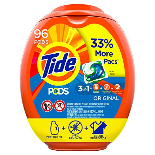 Tide Pods Liquid Laundry Detergent Pacs Original, 96 Count Packaging May Vary